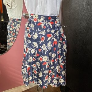 Playful Floral Skirt by American Living Size 6
